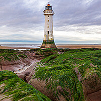 Buy canvas prints of New Brighton Lighthouse  by Gary chadbond