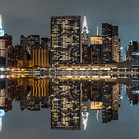Buy canvas prints of Manhattan at Night by Madi Kapparov