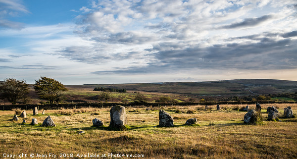 Brisworthy Stone Circle, Ringmoor Down, Dartmoor. Canvas Print by Jean Fry