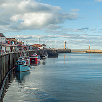 Buy canvas prints of whitby harbour by Rob Farrell