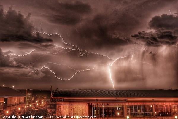 Storm over chatham dockside Canvas print by stuart bingham
