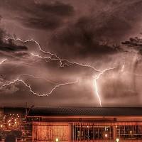 Buy canvas prints of Storm over chatham dockside by stuart bingham