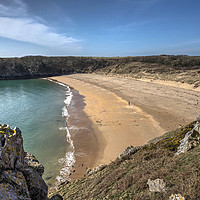 Buy canvas prints of Barafundle Bay, Pembrokeshire, West Wales by Kevin Arscott