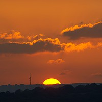 Buy canvas prints of Nearly Gone, Sunset, South Wales by Kevin Arscott