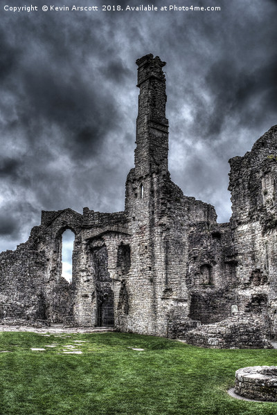 Coity castle, Bridgend, South Wales Canvas Print by Kevin Arscott