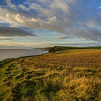 Buy canvas prints of The view towards Nash Point, South Wales by Kevin Arscott
