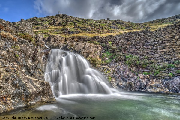 Snowdon Waterfall, Wales Canvas print by Kevin Arscott