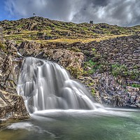 Buy canvas prints of Snowdon Waterfall, Wales by Kevin Arscott
