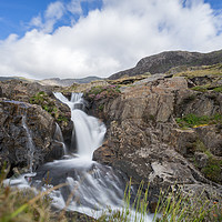 Buy canvas prints of Watkins Trail Waterfall, Snowdonia by Kevin Arscott