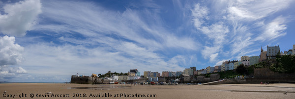 Tenby Harbour Canvas Print by Kevin Arscott