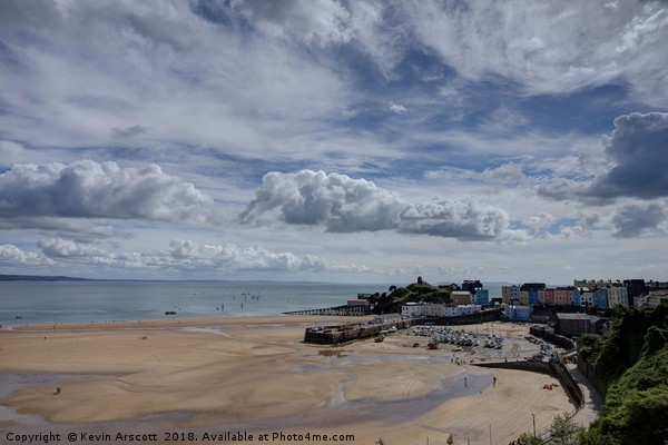 Tenby Harbour, Wales Canvas print by Kevin Arscott