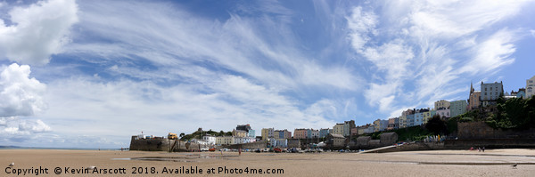 Tenby Panorama Canvas print by Kevin Arscott
