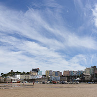 Buy canvas prints of Tenby Panorama by Kevin Arscott