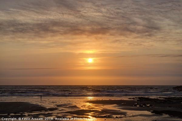 Crackington Haven Sunset, Cornwall Canvas Print by Kevin Arscott