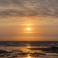 Buy canvas prints of Crackington Haven Sunset, Cornwall by Kevin Arscott