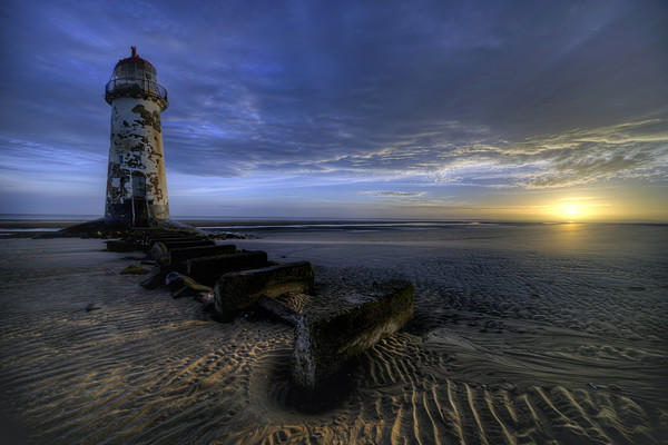 Talacre Sunrise Print by Peter Anthony Rollings