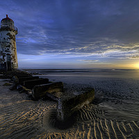 Buy canvas prints of Talacre Sunrise by Peter Anthony Rollings