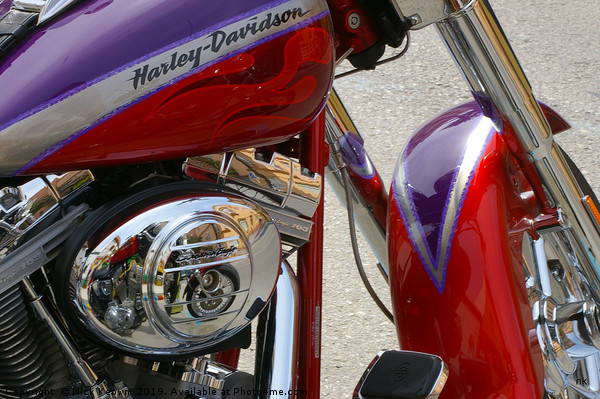 Harley Davidson Canvas print by Nick Keown