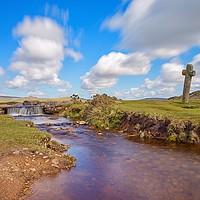 Buy canvas prints of Windy Cross, Dartmoor. by Ian Stone