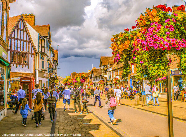 Street life in Stratford Upon Avon  Framed Print by Ian Stone