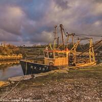 Buy canvas prints of Final mooring ,in Devon. by Ian Stone