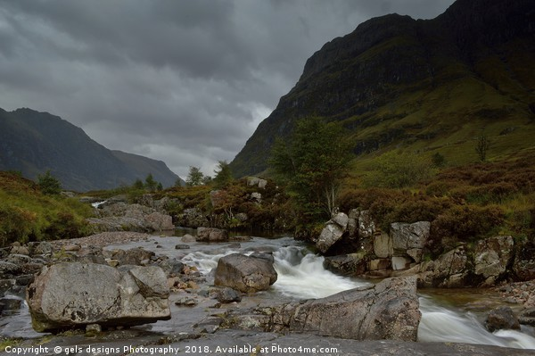 A stormy day in Glencoe, Scottish Highlands Canvas print by gels designs Photography