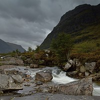 Buy canvas prints of A stormy day in Glencoe, Scottish Highlands by gels designs Photography