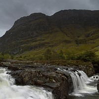 Buy canvas prints of Glencoe waterfall, Scottish Highlands by gels designs Photography
