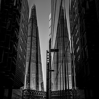 Buy canvas prints of Shard London in black and white by Rosaline Napier