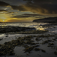 Buy canvas prints of Sunset on Kildonan by David Brookens