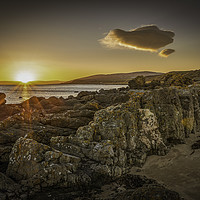 Buy canvas prints of Sunset Over Sliddery by David Brookens