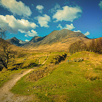 Buy canvas prints of The Old Mine in Glen Sannox by David Brookens