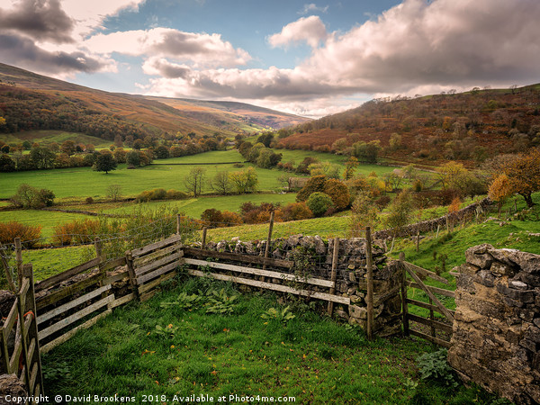 Langstrothdale Chase Canvas print by David Brookens