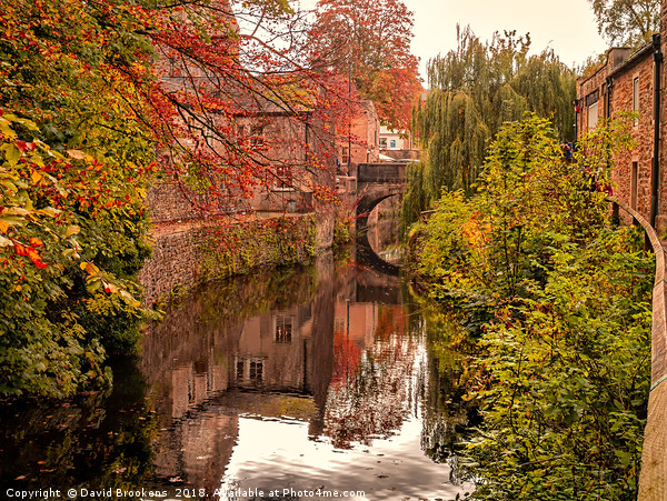 The Canal Near Skipton Castle Canvas print by David Brookens