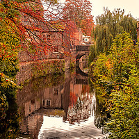 Buy canvas prints of The Canal Near Skipton Castle by David Brookens