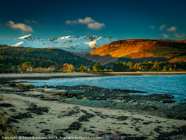 Evening sun on Glen Rosa Canvas print by David Brookens