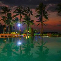 Buy canvas prints of Pool reflections in Thailand by Stuart C Clarke