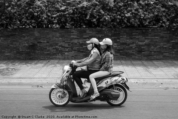 Ho Chi Minh City moped Canvas print by Stuart C Clarke