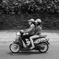 Buy canvas prints of Ho Chi Minh City moped by Stuart C Clarke