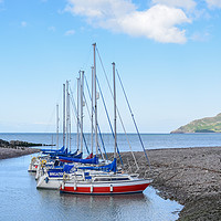 Buy canvas prints of Boats At Porlock Harbour by Jeff Talbot