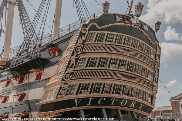 HMS Victory Framed Print by Jose Eduardo Leite Vieira