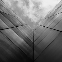 Buy canvas prints of Skyscraper abstract in London by Chris Rabe