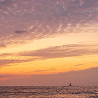 Buy canvas prints of Sail boat on the horizon by Chris Rabe