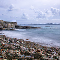 Buy canvas prints of Le Vallette Bathing Pools in Guernsey by George de Putron