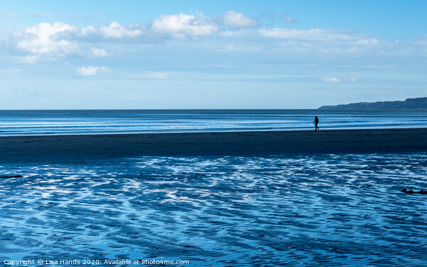 Blue Beach Framed Mounted Print by Lisa Hands