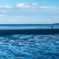Buy canvas prints of Blue Beach by Lisa Hands