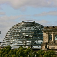 Buy canvas prints of German Reichstag building and Dome in Berlin by Nathalie Hales
