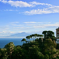 Buy canvas prints of Mount Vesuvius by Nathalie Hales