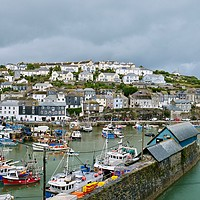 Buy canvas prints of Mevagissey Harbour, Cornwall by Nathalie Hales
