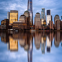Buy canvas prints of Cityscape of Financial District of New York by Juan Jimenez